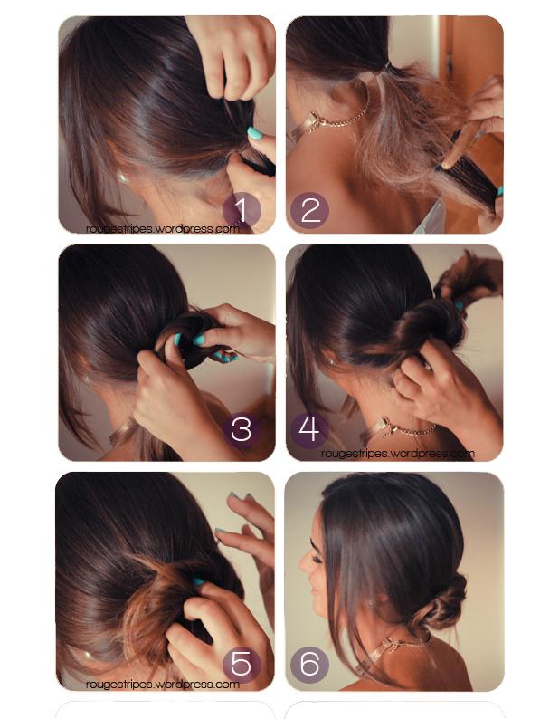 Hairstyles Messy Bun Rouge Stripes